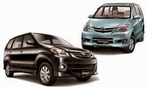 Rental Mobil New Xenia Avanza plus Driver harga mulai Rp 250 ribu
